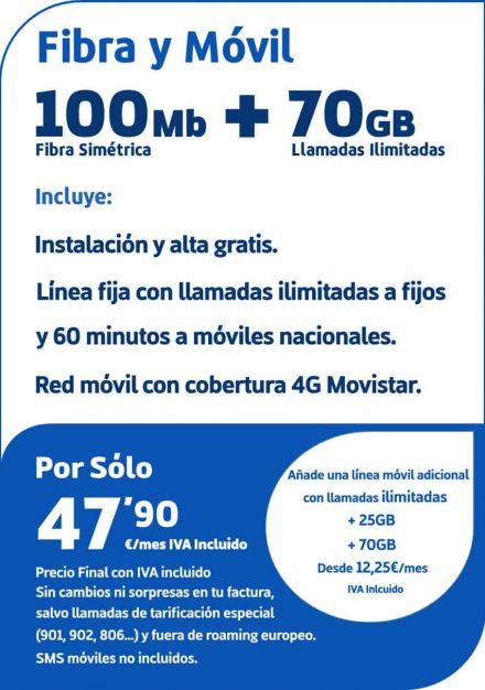 Fibra100yMovil70